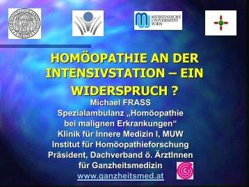 Homöopathie an der Intensivstation - Inspiration Organon