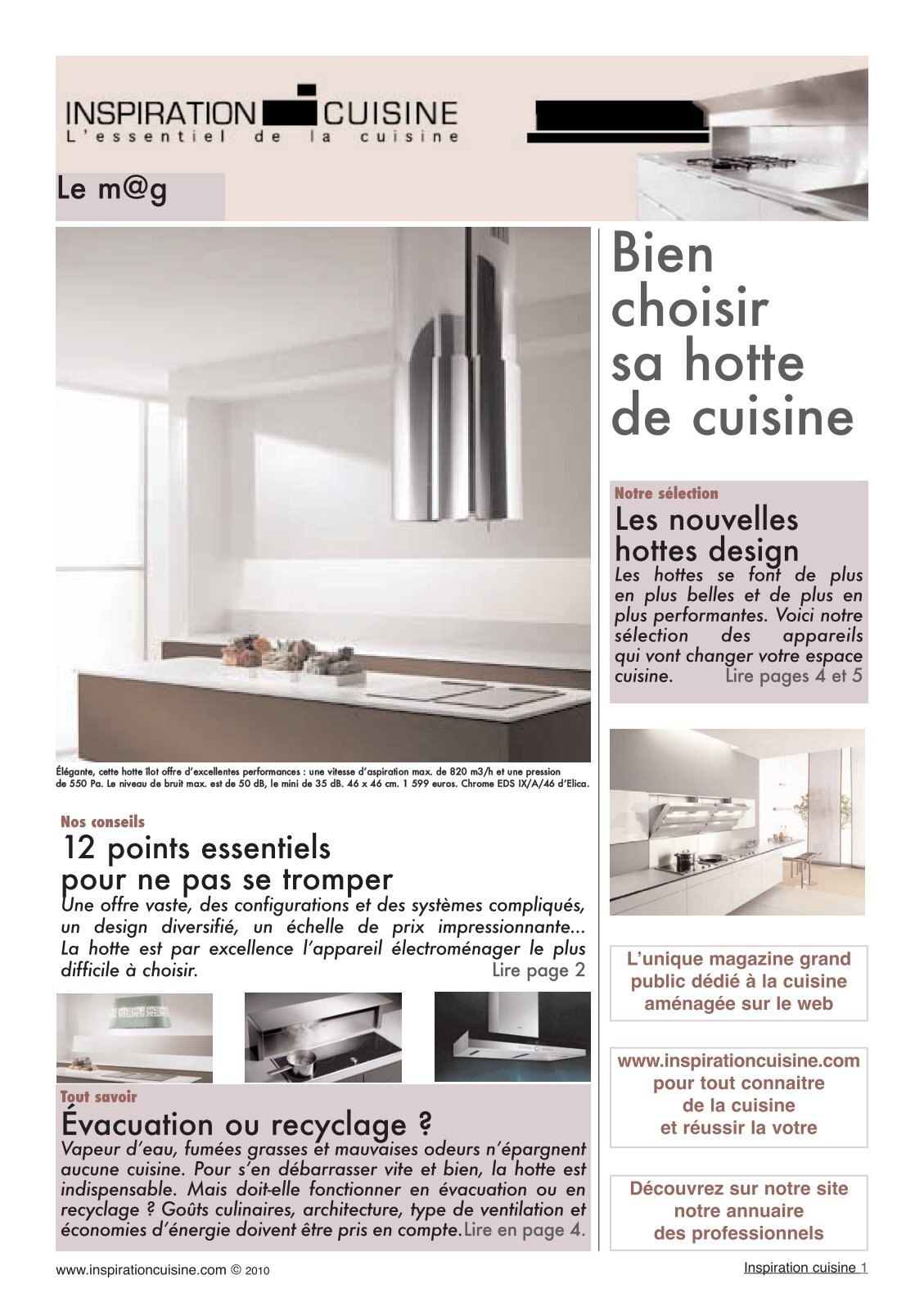 2 free magazines from inspirationcuisine com. Black Bedroom Furniture Sets. Home Design Ideas