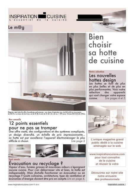 bien choisir sa hotte de cuisine inspiration cuisine. Black Bedroom Furniture Sets. Home Design Ideas