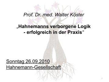 Hahnemanns verborgene Logik - Inspiration Organon