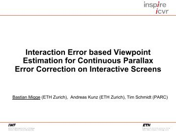 Interaction Error based Viewpoint Estimation for Continuous ... - inspire