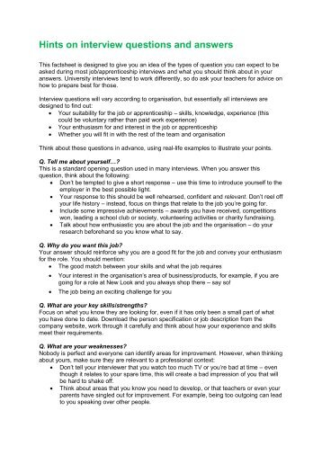 interview questions weakness examples