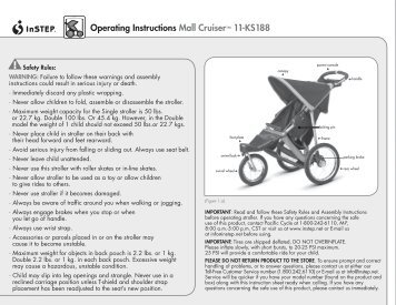 Operating Instructions Mall Cruiser™ 11-KS188 - Instep.net
