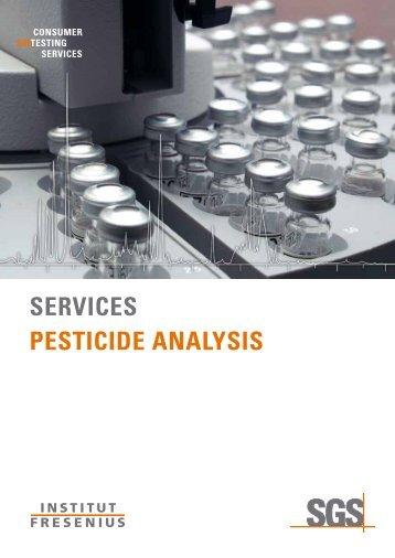 Brochure Pesiticide Analysis - Institut Fresenius