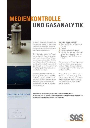 Medienkontrolle und Gasanalytik