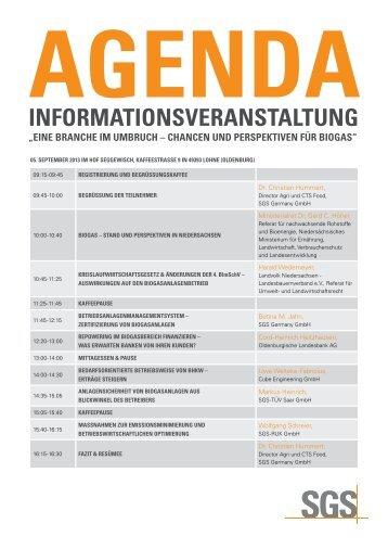 Agenda und Anmeldung - Institut Fresenius