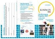 Projekte 2007 A nmeldung - Institut fuer Soziale Innovation