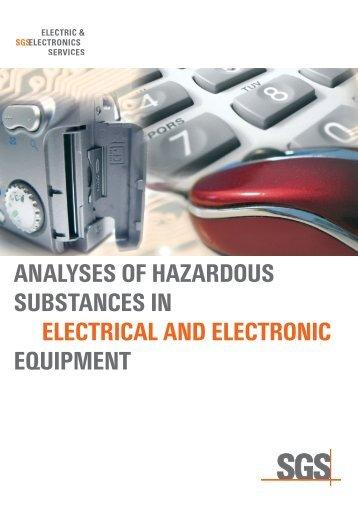 analyses of hazardous substances in electrical ... - Institut Fresenius