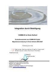 Migrationsvernetzung im Kreis Herford - Institut fuer Soziale Innovation