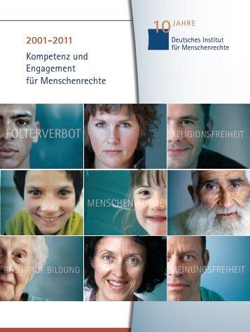 Kompetenz und Engagement für Menschenrechte 2001-2011