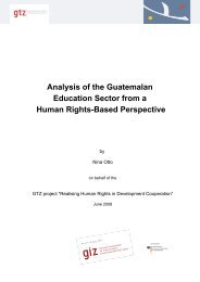 Analysis of the Guatemalan Education Sector from a Human Rights ...