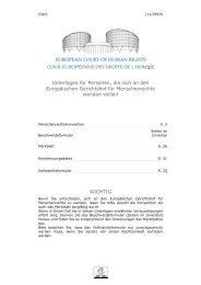 Europäischer Gerichtshof für Menschenrechte - Deutsches Institut ...