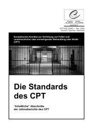 Die Standards des CPT - Deutsches Institut für Menschenrechte