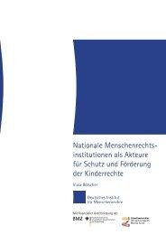 Nationale Menschenrechtsinstitutionen als Akteure für Schutz und ...