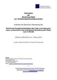 Information der Monitoring-Stelle zur UN ...