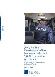 Racial Profiling - Deutsches Institut für Menschenrechte