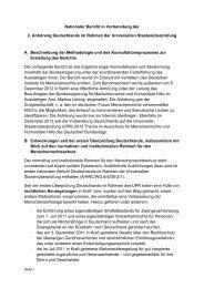 Nationaler Bericht in Vorbereitung der 2. Anhörung Deutschlands im ...