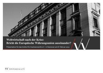 Weltwirtschaft nach der Krise: Bricht die Europäische - Institut für ...