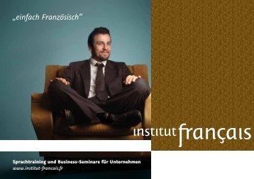 """""""einfach Französisch"""" - Institut français"""