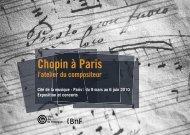 Exposition Chopin à Paris - Bibliothèque nationale de France
