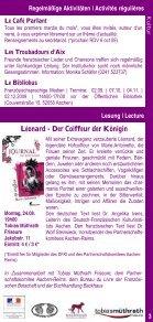 Kultur & K urse ultur & Kurse - Institut français - Seite 3