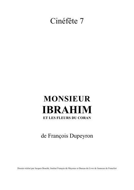 Monsieur Ibrahim Et Les Fleurs Du Coran Pdf