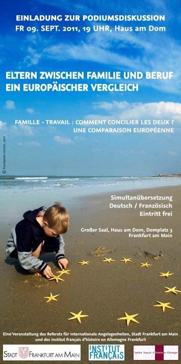 eltern zwischen familie und beruf ein europäischer ... - Institut français