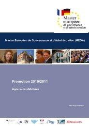 Master Européen de Gouvernance et d'Administration