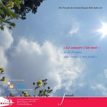 «Le concert c'est moi – - Institut français Deutschland