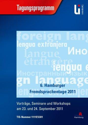 Programm der Hamburger Fremdsprachentage - Landesinstitut für ...