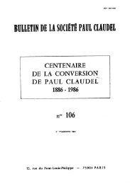 JML 1987 Bulletin de la société Paul Claudel Homélie 21 décembre ...