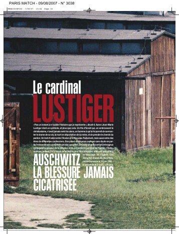 auschwitz la blessure jamais cicatrisée - Institut Jean-Marie Lustiger
