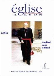 JML 1998 03 11 Eglise de Lyon Homélie funérailles Jean Balland