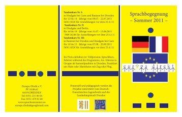 Sprachbegegnung – Sommer 2011 –