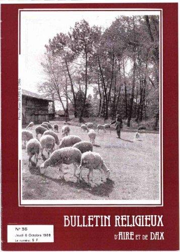 JML 1988 Bulletin religieux d'Aire et Dax Homélie 11 septembre 1988
