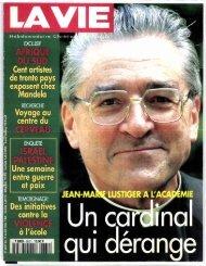 Mariane Dubertret 1996 03 14 La vie Jean-Marie Lustiger Je suis ...