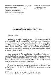 JML 2000 10 29 France Culture Homélie Bartimée guide spirituel