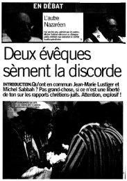Albert Longchamp 2003 02 27 Témoignage chrétien La nostalgie ...