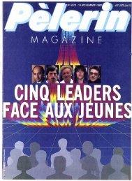 JML 1985 11 15 Pèlerin magazine Trois élèves de seconde du ...