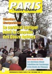 JML 1998 11 19 PND Le cardinal Lustiger bénit la chapelle des ...