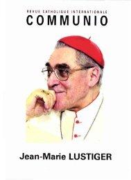 JML 2008 05-06 Communio Jean-Marie Lustiger - Institut Jean ...