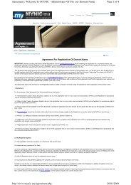 Agreement For Registration Of Domain Name