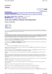 Nominet Terms and Conditions of Domain Name Registration