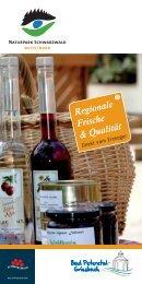 Regionale Frische  - Direktvermarkter in Bad Peterstal-Griesbach