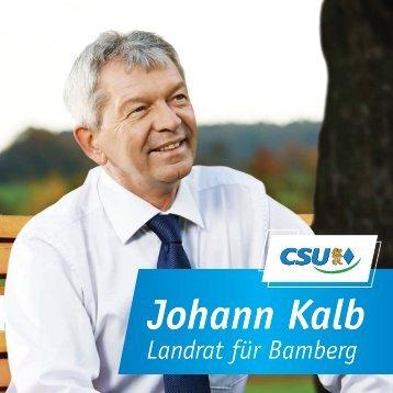 Johann Kalb - Landrat für Bamberg