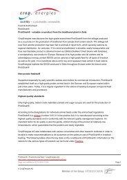 Food & Animal feed Protigrain® Protigrain ... - Cropenergies
