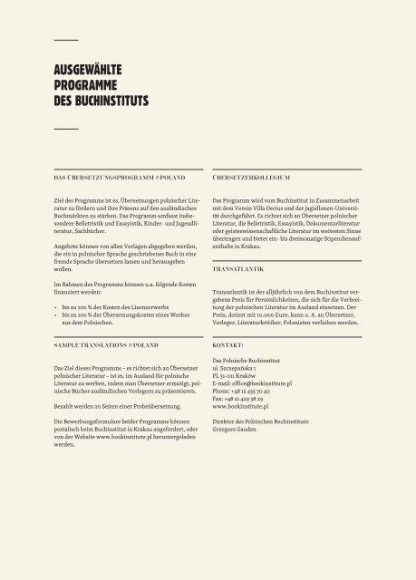 Neue Bücher - Instytut Książki