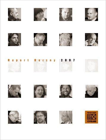 Raport Roczny z działalności Instytutu Książki za rok 2007