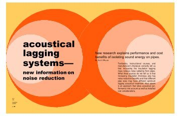 acoustical lagging systems— - National Insulation Association