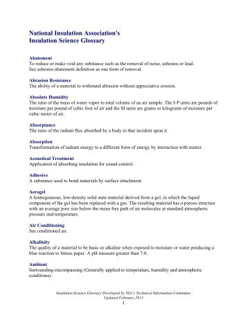 Download Glossary - National Insulation Association